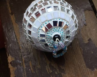Mosaic Ornament, Mosaic Decoration, Gift Idea, Wedding, Baby, Anniversary, Birthday, Meditative, Mosaic Orb, Mosaic Sphere, Window Ornament