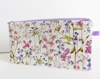 Liberty Lawn 'Theodora B' zippered pencil case
