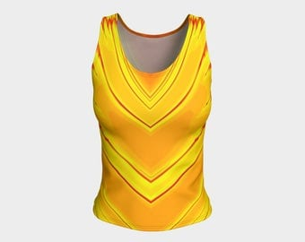 Molten Metal Fitted Tank Top