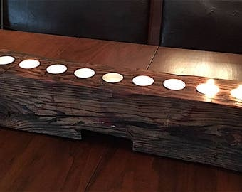 Circa 1900 Reclaimed Pine Candle Holder