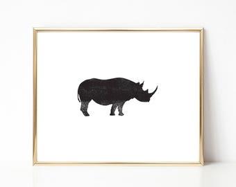 Rhino Ink Texture Print, Black and White PRINTABLE Nursery Art, Instant Download Print, Black & White, Minimal Art Print, Modern Art