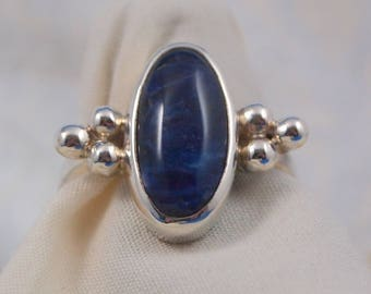 Sodalite Ring Size 7 1/4 in Sterling Silver