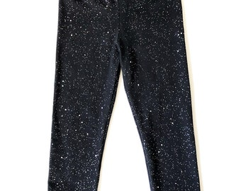 Black Iridescent Glitter Leggings Baby Toddler Girls