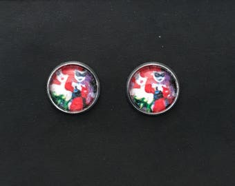 Harley Quinn Poison Ivy Stud Earrings
