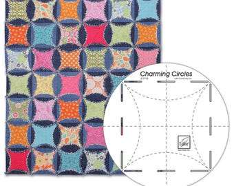 Charming Circles Ruler - Cathedral Windows Quilter's Tool - Quilting Ruler - June Tailor JT 1710