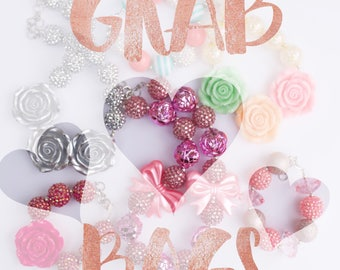 Grab Bags. Three necklace for half off. bubblegum beaded neclaces