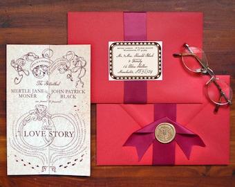 Custom Listing for oxanabin - Romance Managed, Full Version - Harry Potter Inspired Invitation - SAMPLE ONLY