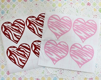8 pcs - 2'' Heart Stickers - Planner Stickers - Valentines Day Stickers - Wedding Sticker - Envelope Seal - 5 cms - Made to Order