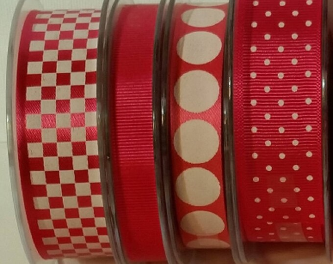 Hot Pink (Fuchsia) & White Ribbons 285 feet (95 yard length!) *S-A-L-E* Made in England for Party Bags, Candy Apples, Food Gift Wrap Crafts