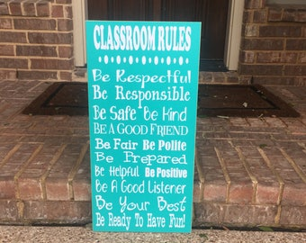 Teacher Gifts ~ Personalized Teacher Gift ~ Classroom Decor ~ Classroom Rules Sign ~ Teacher Classroom Decor ~ Teacher Appreciation