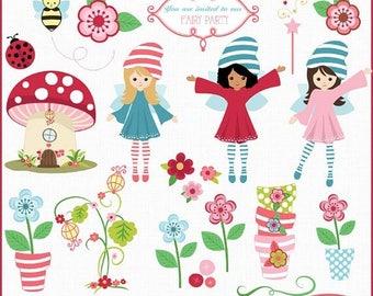 65%OFF SALE Fairyland clip art, fairy clip art, fairy garden clip art, fairy vector clip art, commercial use clip art, C272