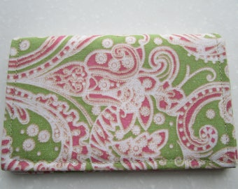 Paisley Card Holder, Minimalist Wallet, Travel Wallet, Slim Wallet, Card Wallet, Business Card Holder, Credit Card Wallet, Card Case, BiFold