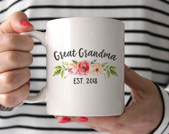 Great Grandma Gift Great Grandma Mug Birthday Gift Pregnancy Announcement Great Grandma Pregnancy Reveal Great Grandma Gift Ideas Peach Pink