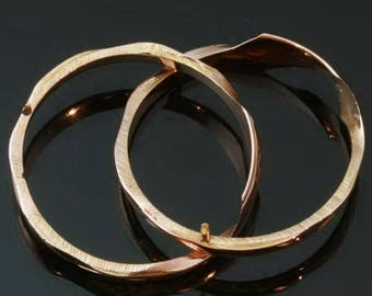 Antique gold wedding ring 18k rose gold double ring secret place Victorian ring