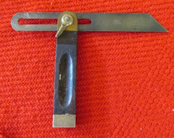 Vintage Carpenter's Angle Measure tool Stanley No.25 8 Inch