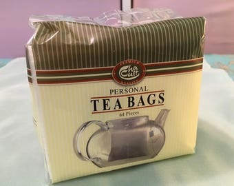 SALE, Personal Tea Bags - 64 piece, make your own loose leaf tea bag