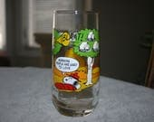 Vintage McDonald's Camp Snoopy Collection Glass Drinkware Tumbler