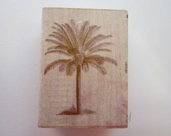 rubber stamp - PALM TREE - Anna Griffin All Night Media 76047 - used rubber stamp
