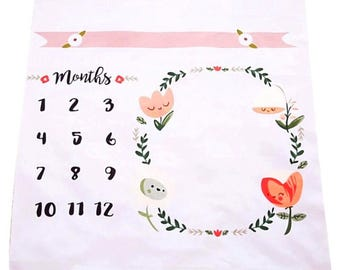 New Baby Monthly Photo Mat