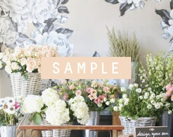 SAMPLE ** Greyscale Graphic Flower Decals