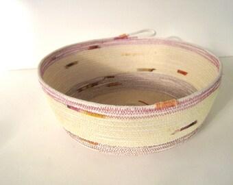 Rope Coiled Basket - Large Organizing Storage Basket - Knitting Bowl - Clothesline Basket - Free Shipping