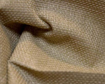 REMNANT Tan  Textured Fabric 58 inches x 1.125 yards