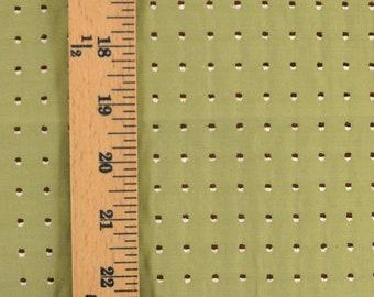 Brown Green Polka Dot Upholstery Fabric
