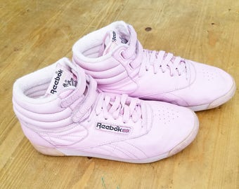 reebok vintage. awesome vintage 1980s pink reebok hi top ankle tennis shoes reebok