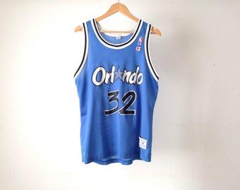 vintage SHAQUILLE O'NEAL 90s Orlando MAGIC vintage mesh nba jersey shirt tank top