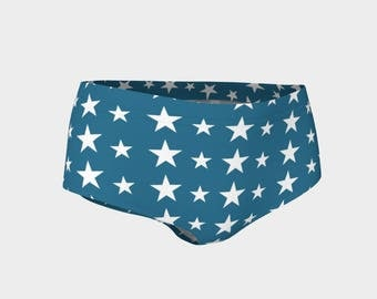 Wonder Woman B | Mini Shorts | Bikini Bottoms | Size XS S M L XL | Bold Design Print Active Swim Wear Hot Pants Yoga Dance Beach Volleyball