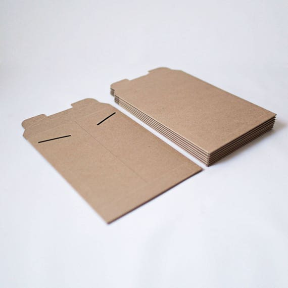 New Size 6in x 8in  -Kraft Stay Flat Mailers- Set of 100 | 5x7 prints, stationery, gift cards, greeting cards, shipping box, hard envelope
