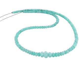 "AMAZONITE BEADS Faceted Rondelle 3.8-9mm 18"" NewWorldGems"