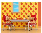 FALL SALE Retro kitchen animal art print with fawns: Fawning