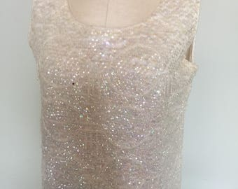 Beaded & Sequined 50's Vintage Top