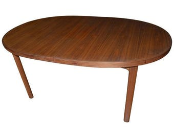 Mid-Century Dining Table of Teak with Two Inserts