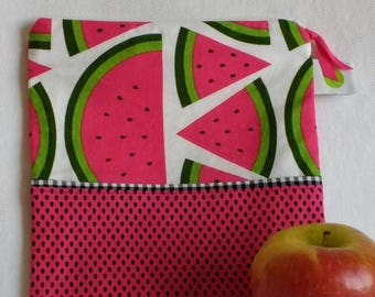 "On Sale Reusable Sandwich Bag - 7.5"" x 7.5""- Food safe PUL lined, Zippered, Machine Washable"