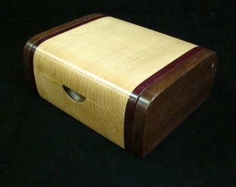 Ring Box, Jewelry Box, Keepsake Box, Musicians Accessory Box, Pick box