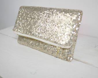 Gold sequin clutch | Gold Purse | Gold Wedding Purse | Gold Bridal Clutch | Gold Bridesmaid Purse