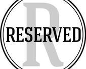 RESERVED for Brianna Luciano