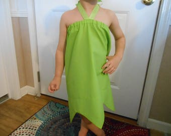 Tinkerbell costume included dress, wings and elastic tie infant thru 8 years