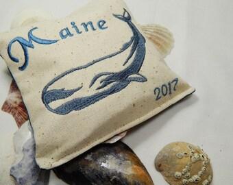Balsam Pillow, Whale, Nautical, Organic Balsam, Maine
