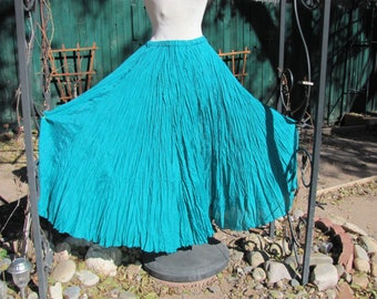Pine Green Silk - Pleated Skirt