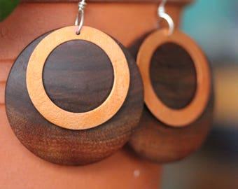 Black Walnut and Copper earrings