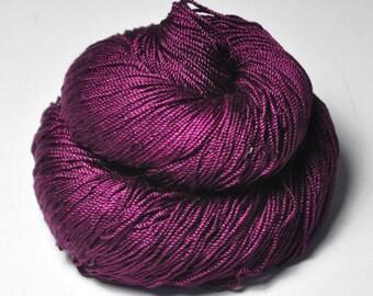 Burning Fuchsia - Cordonnette Silk Fingering Yarn
