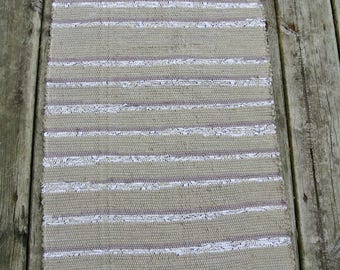 Hand Woven Rug- Cotton-Cotton/Poly Blend Fabric-Union #36 Loom-Scandinavian-Cottage Chic-Floor Covering