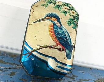 Vintage Horner England Hummingbird Candy Tin