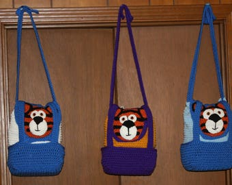 Hand Crochet Tiger Snack Bags