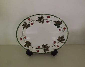 Antique Vintage Titian Ware Platter by Adams China England Ivory