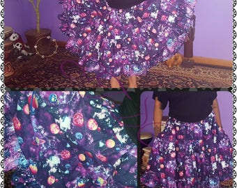 Galaxy 12yd Midi Skirt with pockets
