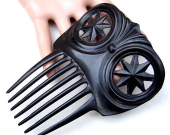 Hair comb Victorian mourning hair accessory hair fork hair pin hair pick decorative comb hair ornament